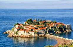 Sveti Stefan small islet in Montenegro Stock Photos