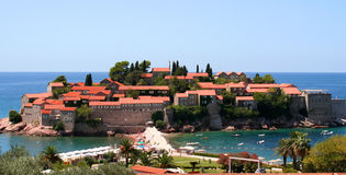 Sveti Stefan, small islet and resort Stock Images