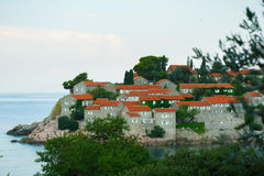 Sveti Stefan (St. Stefan) island in Adriatic sea, Montenegro Royalty Free Stock Photos