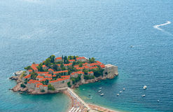 Sveti Stefan (St. Stefan) island in Adriatic sea, Montenegro Royalty Free Stock Image