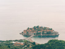 Sveti Stefan, view from the mountain Royalty Free Stock Image