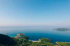 Sveti Stefan, view from the mountain Royalty Free Stock Images