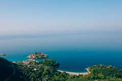 Sveti Stefan, view from the mountain Stock Photography