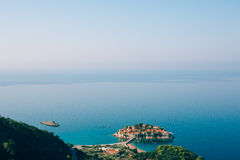 Sveti Stefan, view from the mountain Royalty Free Stock Photos