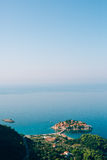 Sveti Stefan, view from the mountain Stock Image