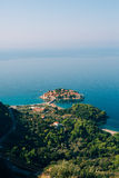 Sveti Stefan, view from the mountain Royalty Free Stock Photo