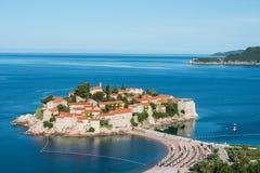 Sveti Stefan wyspa, Budva, Montenegro Obrazy Stock