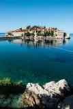 Sveti Stefan wyspa, Budva, Montenegro Obraz Royalty Free