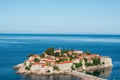 Sveti Stefan wyspa, Budva, Montenegro Obraz Stock