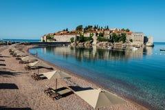 Sveti Stefan wyspa, Budva, Montenegro Zdjęcia Stock