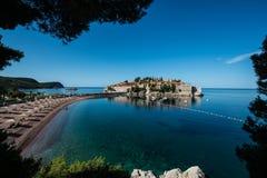 Sveti Stefan wyspa, Budva, Montenegro Obrazy Royalty Free