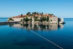Sveti Stefan wyspa, Budva, Montenegro Zdjęcia Royalty Free