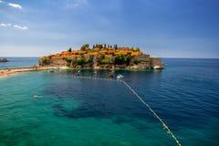 Sveti Stefan wyspa w Budva w pi?knym letnim dniu, Montenegro obrazy royalty free