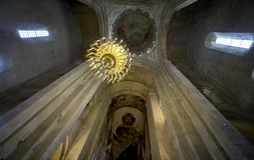 Svetitskhoveli大教堂内部在姆茨赫塔 库存图片