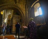 Svetitskhoveli大教堂在姆茨赫塔,乔治亚 免版税库存图片