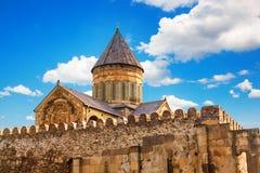 Svetitskhoveli正统大教堂在姆茨赫塔,乔治亚 免版税库存图片