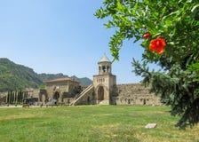 Svetitskhoveli生存柱子的大教堂或大教堂,东正教大教堂被找出在历史名城 免版税库存照片