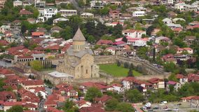 Svetitskhoveli - церковь собора патриархальная сток-видео
