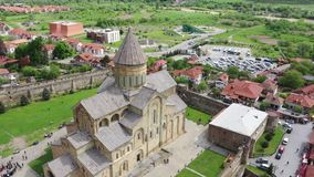 Svetitskhoveli -格鲁吉亚东正教的家长式大教堂 股票视频
