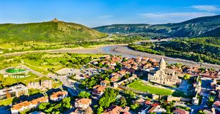 Free Svetitskhoveli Cathedral And Jvari Monastery In Mtskheta, Georgia Royalty Free Stock Image - 152408716