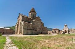 Svetitskhoveli cathedral in the center of Mtskheta Royalty Free Stock Images