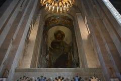 Svetitskhoveli Cathedral interior view Royalty Free Stock Photo