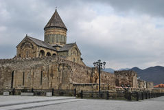Svetitskhoveli Cathedral. Svetitskhoveli (The Life Giving Pillar) is one of the most sacred places in Georgia and,  the clear highlight of a trip to Mtskheta Royalty Free Stock Photos
