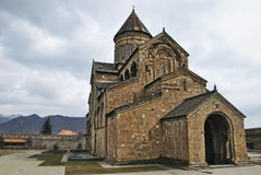 Svetitskhoveli Cathedral. Svetitskhoveli (The Life Giving Pillar) is one of the most sacred places in Georgia and,  the clear highlight of a trip to Mtskheta Stock Images