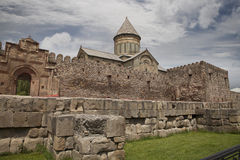 Svetitskhoveli Cathedral (The Living Pillar Cathedral) in Mtskhe Royalty Free Stock Images