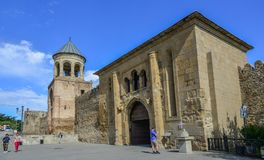Svetitskhoveli Cathedral of Mtskheta, Georgia royalty free stock image