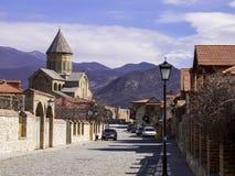 Svetitskhoveli Cathedral in Mtskheta. Stock Photo