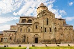 Svetitskhoveli domkyrka i den historiska staden Mtskheta i Georgia Arkivfoto