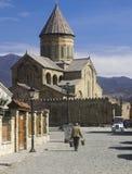Svetitskhoveli domkyrka i Mtskheta. Arkivbild