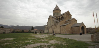Svetitskhoveli Kathedrale in Mtskheta Stockfotos