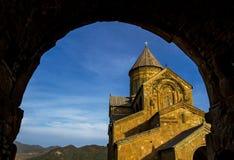Svetitskhoveli Orthodoxe Kathedraal, Mtskheta, Georgië Royalty-vrije Stock Foto's