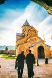 Svetitskhoveli Ortodoksalna katedra w Mtskheta, Gruzja Zdjęcie Stock