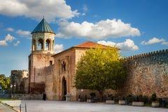 Svetitskhoveli ortodox domkyrka i Mtskheta, Georgia Arkivfoto