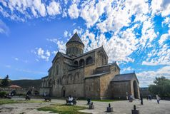 Svetitskhovelikathedraal van Mtskheta, Georgië stock afbeeldingen