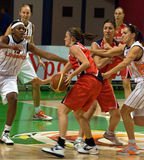 Svetlana Abrosimova (UMMC). Euroleague 2009-2010. Photo libre de droits