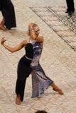 Svetlana Gudyno -拉丁舞蹈演员 库存照片