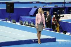 Svetlana Khorkina royalty free stock photo
