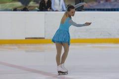 Svetlana Kudris de Bielorrússia executa o programa de patinagem livre das senhoras adultas da classe II do Pre-bronze Imagens de Stock Royalty Free