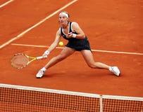 Svetlana Kuznetsova de Rússia em Roland Garros fotografia de stock