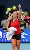 Svetlana Kuznetsova (RUS) celebrates victory Stock Images