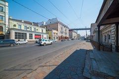 Svetlanskaya street view. Stock Photos