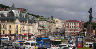 Svetlanskaya street view. Royalty Free Stock Images