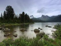 Svetloe Lake. Sayan Mountains Natural Park Ergaki. Russia Stock Images