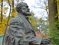 Svetlogorsk, Ρωσία Τεμάχιο ενός μνημείου στον ακαδημαϊκό Ι Π Pavlov, πλάγια όψη στοκ εικόνα με δικαίωμα ελεύθερης χρήσης