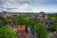 Svetlogorsk, Baltic sea, Kaliningrad oblast. Beautiful Russian town in the Kaliningrad region Stock Photo