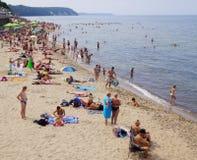 SVETLOGORSK, RUSIA: Playa de Sandy en la costa del mar Báltico Fotografía de archivo libre de regalías